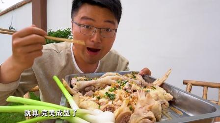 5斤公鸡1锅饭,夏天这样吃鸡,最短时间出一道美食,蒜蓉鸡真馋