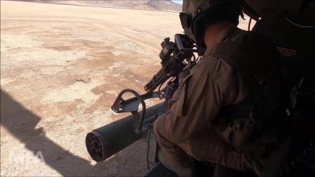 美国海军陆战队轻型攻击中队(HMLA)进行空中支援训练(3332)