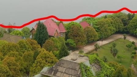 贵州一小岛上发现大型别墅群,这里的别墅已全被杂草覆盖, 宛如来到了绿野仙踪!