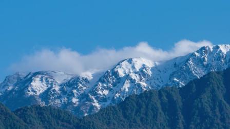 雪山延时摄影视频