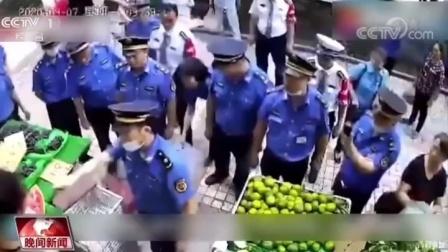 执法人员殴打摊贩而被西瓜刀伤是摊贩正当防卫