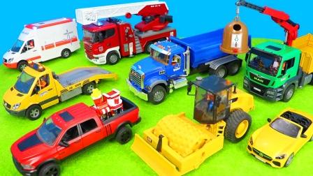 儿童玩具启蒙乐园:消防车、救护车、翻斗车、跑车、环卫车、卡车