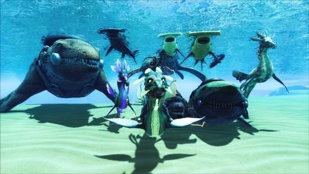 【虾米】方舟:奇幻岛EP24,号令海洋生物,成为海王吧!
