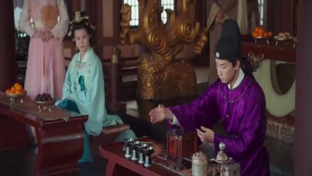 飒女将冷月以剑制茶,一旁景少卿看呆了