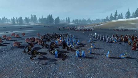全面战争战锤2294mod 巨魔国度 高等精灵 VS 绿皮