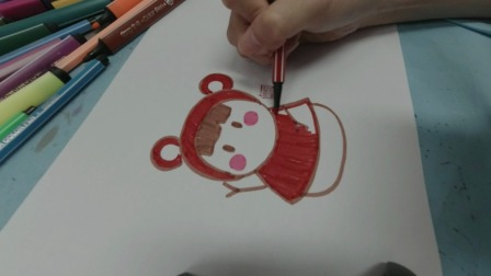 教你画一个漂亮的雪人