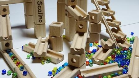 搭建有趣的木制楼梯跑道