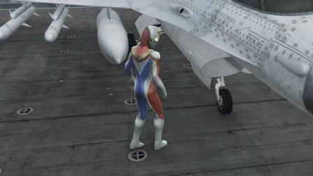 小游戏:奥特曼在航空母舰上面做坏事
