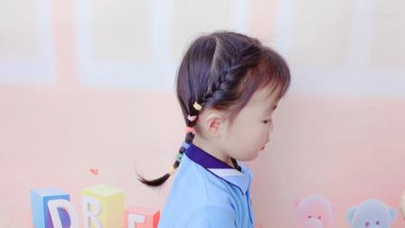简单易学的儿童编发教学,上学发型