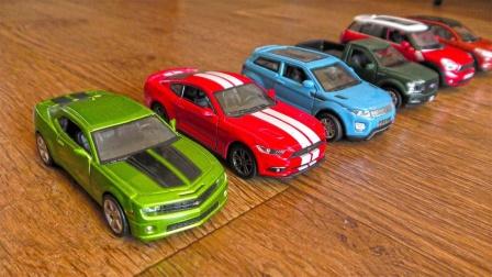 炫彩合金跑车SUV汽车玩具缓慢行驶