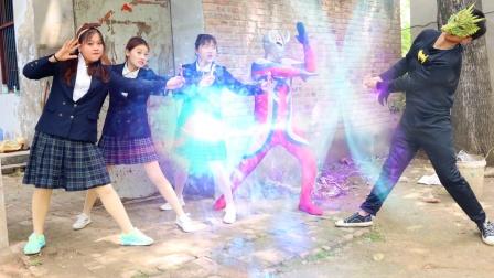 怪兽袭击地球,小楠和同学们变成奥特曼阻止