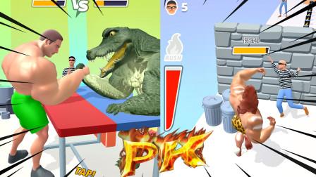 猛男向前冲:我和鳄鱼掰手腕,比拼力气我可没输过!