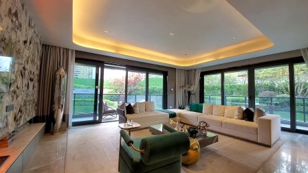 豪宅大平层300平米只做三个卧室有多奢侈,一层一户转角大阳台36平,60平的主卧室