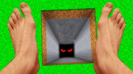 迷你世界真人版:小游玩幸运方块,挖到冲天炮