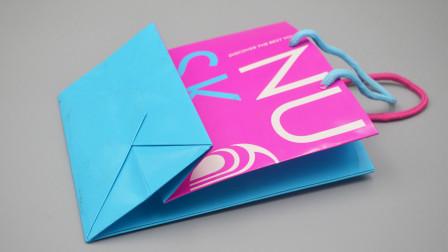 废旧纸袋不要扔掉了,几个步骤改造成收纳盒,简单实用还好看