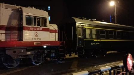DF7G0037牵引客车回送【00346】通过12K道口
