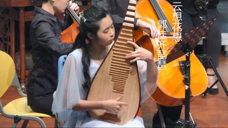 郭佳齐琵琶演奏《云想花想》,王丹红曲