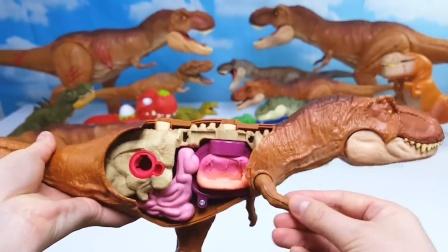 可爱又搞笑的霸王龙新造型!太有创意了!恐龙世界益智趣味玩具