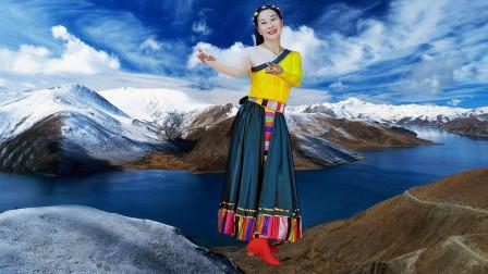 玖月广场舞《在那东山顶上》背面藏族舞 绕子龙原创