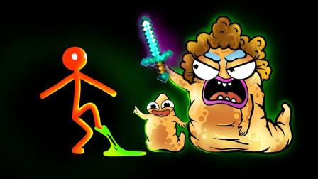 怪物学校:斯蒂克曼vs可怜的外星人宝宝