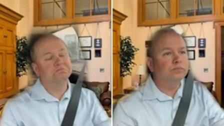 """美参议员参加视频会议时开车,安全带""""出卖""""了他"""