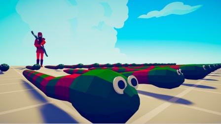 全面战争模拟器游戏 蛇弓手和小蛇们联合对战各个兵种