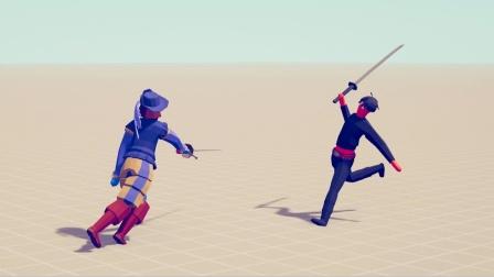 全面战争模拟器游戏 新兵种武士对抗各个兵种
