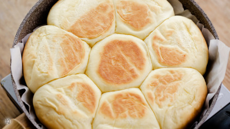 免揉免烤箱,柔软拉丝口感太惊艳了!