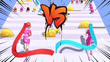 魔性少女:在赛道上帮助金发公主,灵活收集头发到达终点!