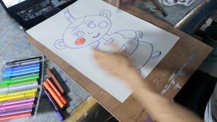 画一个可爱卡通小孩子