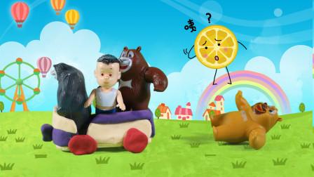 儿童剧:大黑熊老师带小伙伴去游乐场,却把熊二掉在路上了!