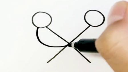 一个叉X教你画爱情鸟