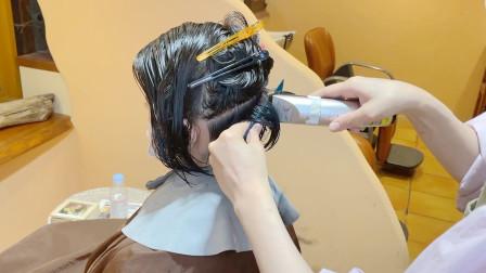 """36岁女性嫌""""波波头""""短发过时,发型师后脑区直接推,个性真时尚"""