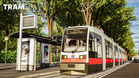 有轨电车模拟 #7:穿过市中心 晚点驾驶ULF型四分半到达终点 | TramSim