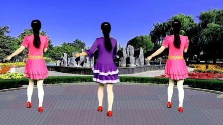 广场舞《阳光路上花正开》歌声甜美动听,简单好看又好学