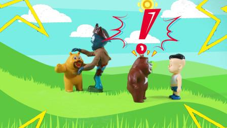 儿童剧:僵尸来抓熊二,光头强和熊大一招把僵尸打倒了!
