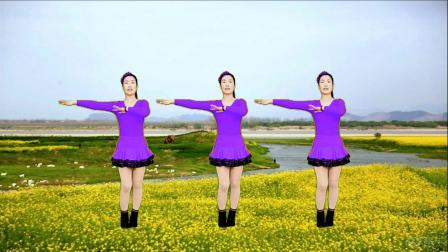 广场舞《探水情河》欢快时尚的舞步,简单易学