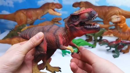 新款积木霸王龙玩具!哪一只更酷炫一点呢?恐龙世界益智玩具乐园