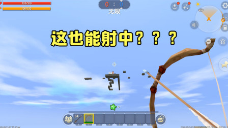 迷你世界:屏幕都看不清表妹的人,居然还能一箭把她射中?