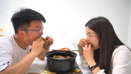 蹭老表半斤酱料,搭四斤牛排,两人一锅黄焖牛排条,太解馋了