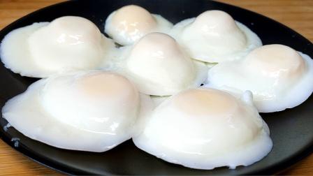 水煮荷包蛋这做法太牛了,无散花,无白沫,又圆又嫩,超简单