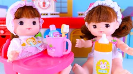 儿童玩偶刷牙吃饭过家家玩具