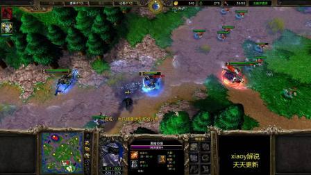 直接强拆三本基地的战术 魔兽xiaoy解说moon guli