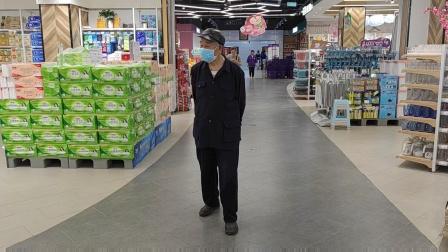63岁的儿子带87岁父亲逛麻阳步步高超市父子兴致勃勃_20210511