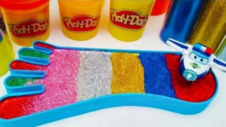趣味亲子水晶泥儿童益智玩具,循环创意萌宝DIY彩虹脚丫学颜色