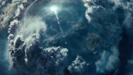 外星飞船制造出一到屏障,飞机无法飞过去,连信号都屏蔽了