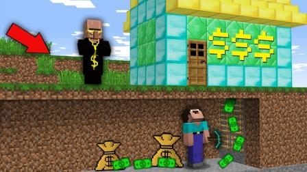 我的世界:土豪村民建造宝库,用来做什么?