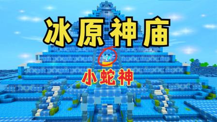 迷你世界:冰原神庙,小蛇神的实力很强,它都没动,我就倒下了