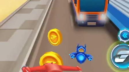 超级飞侠跑酷-乐迪穿过障碍,就能到达终点吗