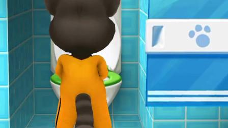 少儿游戏:给起床的汤姆,上个厕所